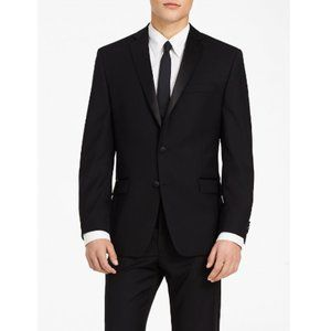 Calvin Klein Black Slim Fit Tuxedo Jacket NWT